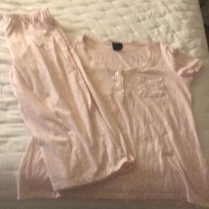 Laura Ashley size medium pajamas light pink